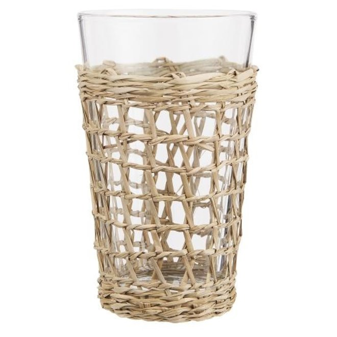 Glas met zeegras