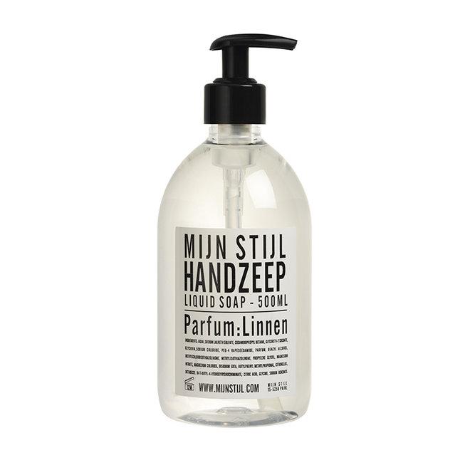 Hand zeep - heldere fles - parfum Linnen - 500 ML