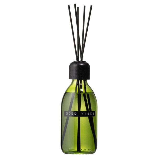 Geurstokjes - Fris Linnen groen glas