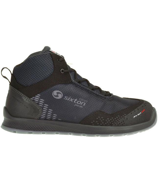 Sixton Sixton Auckland Sneaker Werkschoenen Zwart Hoog S3