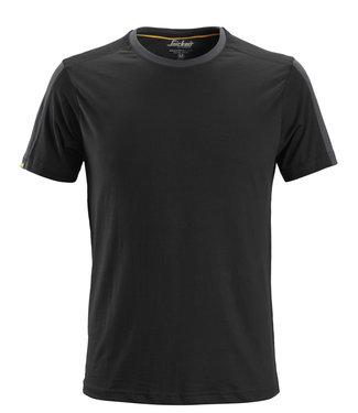 Snickers Workwear Snickers 2518 T-shirt AllroundWork Zwart/Staalgrijs
