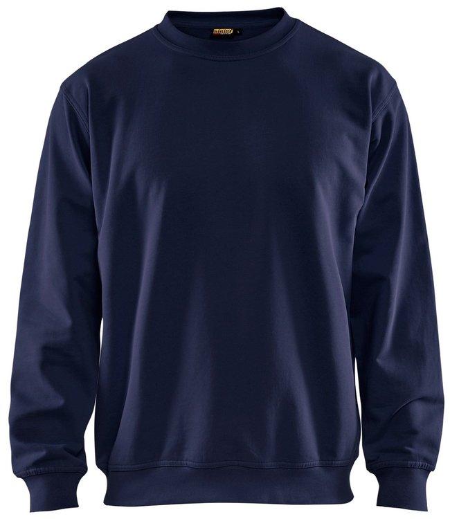Blaklader Blaklader 3340 Werksweater Ronde Hals Marineblauw