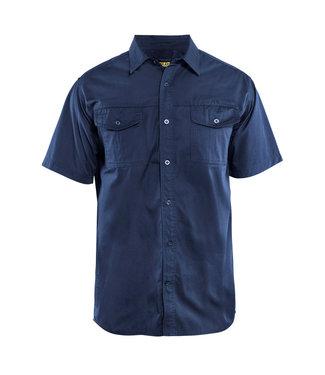 Blaklader Blaklader 3296 Werkoverhemd Korte Mouw Twill Marineblauw