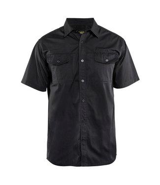 Blaklader Blaklader 3296 Werkoverhemd Korte Mouw Twill Zwart