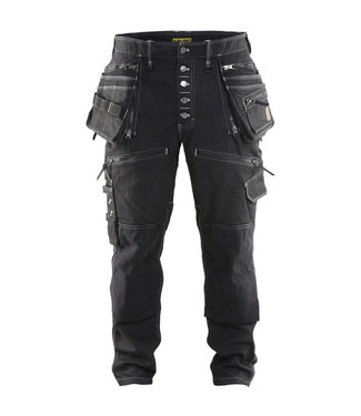 Blaklader Blaklader 1999 Werkbroek Baggy Denim Stretch Zwart