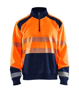 Blaklader Blaklader 3556 Reflecterende Werksweater Oranje/Marineblauw