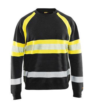 Blaklader Blaklader 3359 Reflecterende Sweater Zwart/Geel