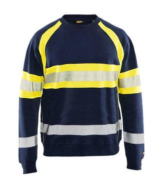 Blaklader Blaklader 3359 Reflecterende Sweater Marineblauw/Geel