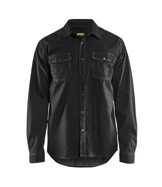 Blaklader Blaklader 3295 Werkoverhemd Denim Zwart