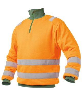 DASSY DASSY Denver Reflecterende Sweater Oranje/Groen