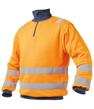DASSY DASSY Denver Reflecterende Sweater Oranje/Donkerblauw
