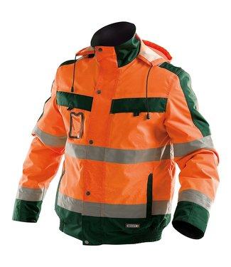 DASSY DASSY Lima Reflecterende Winter Werkjas Oranje/Groen
