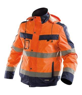 DASSY DASSY Lima Reflecterende Winter Werkjas Oranje/Donkerblauw