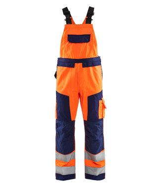 Blaklader Blaklader 2660 Reflecterende Bretelbroek Klasse 2 Oranje/Marineblauw