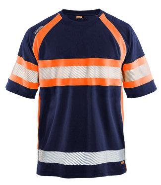 Blaklader Blaklader 3337 Reflecterend T-shirt Marineblauw/Oranje