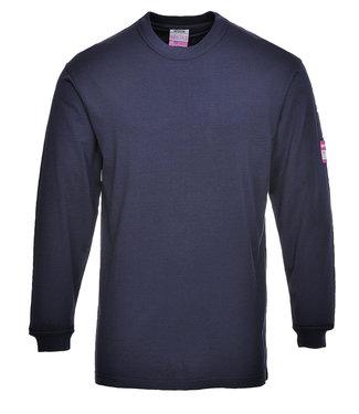Portwest Modaflame Brandvertragende T-shirt Lange Mouw FR-AST Donkerblauw