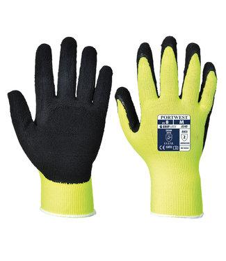 Portwest Latex Comfort Handschoenen Fluo Geel