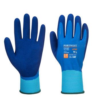 Portwest Latex Aqua Handschoenen Blauw