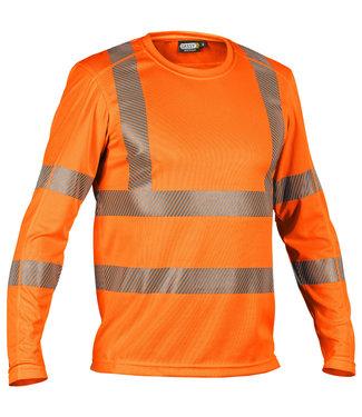 DASSY DASSY Carterville Reflecterend T-shirt Lange Mouwen Oranje