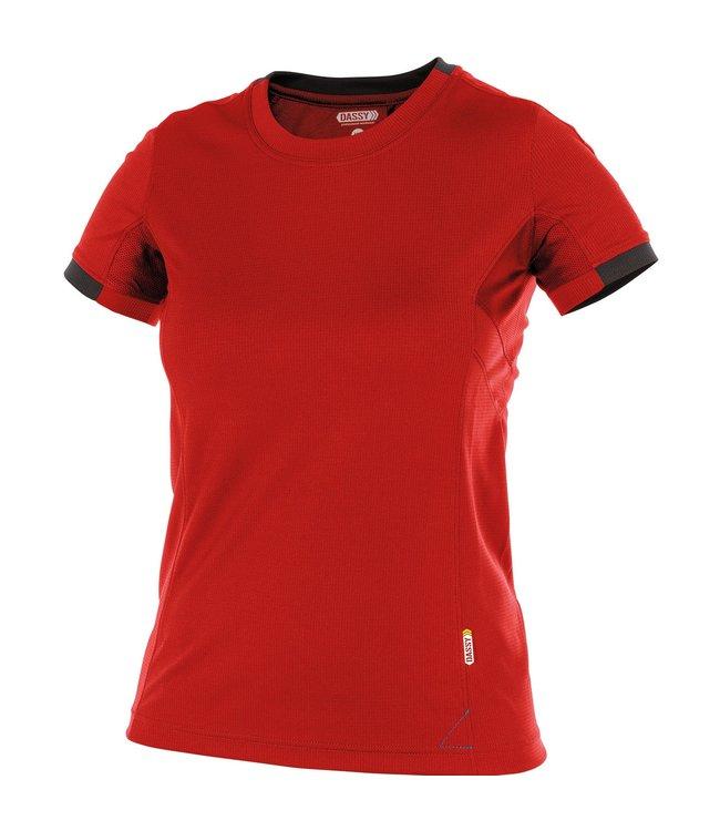 DASSY DASSY Nexus D-Flex Dames T-Shirt Rood/Zwart