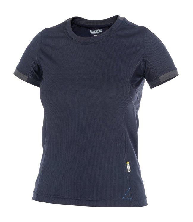 DASSY DASSY Nexus D-Flex Dames T-Shirt Donkerblauw/Zwart