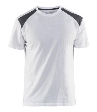 Blaklader Blaklader 3379 T-Shirt Bi-Colour Wit/Grijs