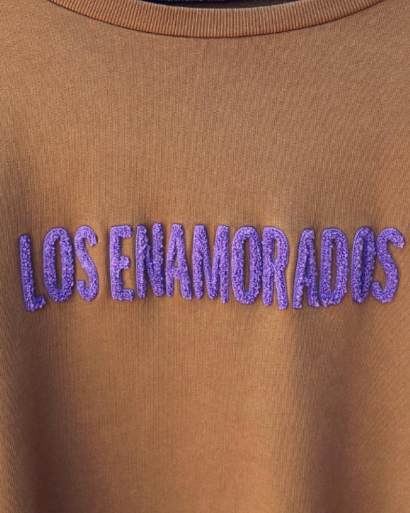 Los Enamorados Embroidered Bronze Sweater