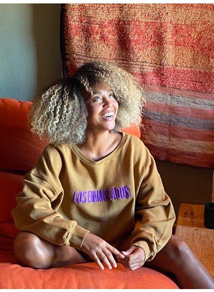 Los Enamorados Embroidered Sweater - Bronze
