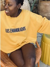 Los Enamorados Embroidered Sweater - Yellow
