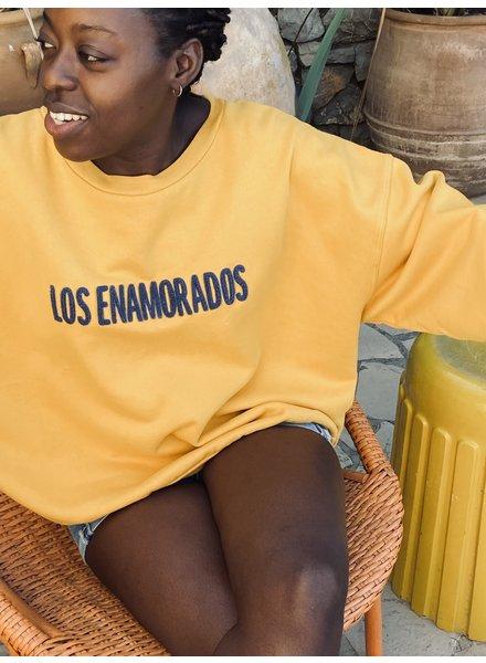 Los Enamorados Embroidered Sweater - Yellow