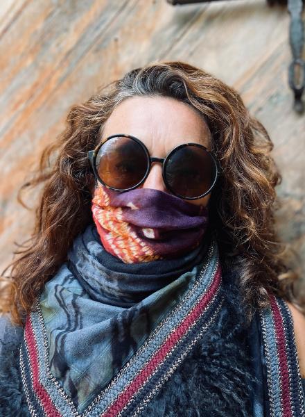 Los Enamorados Facemask - African Tie Dye