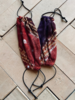 Los Enamorados Facemask - African Tie Dye - Purple/Burgundy