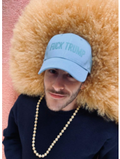 Los Enamorados Fuck Trump Light Blue Cap