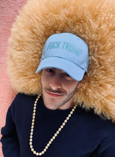 Los Enamorados Fuck Trump Light Blue Cap