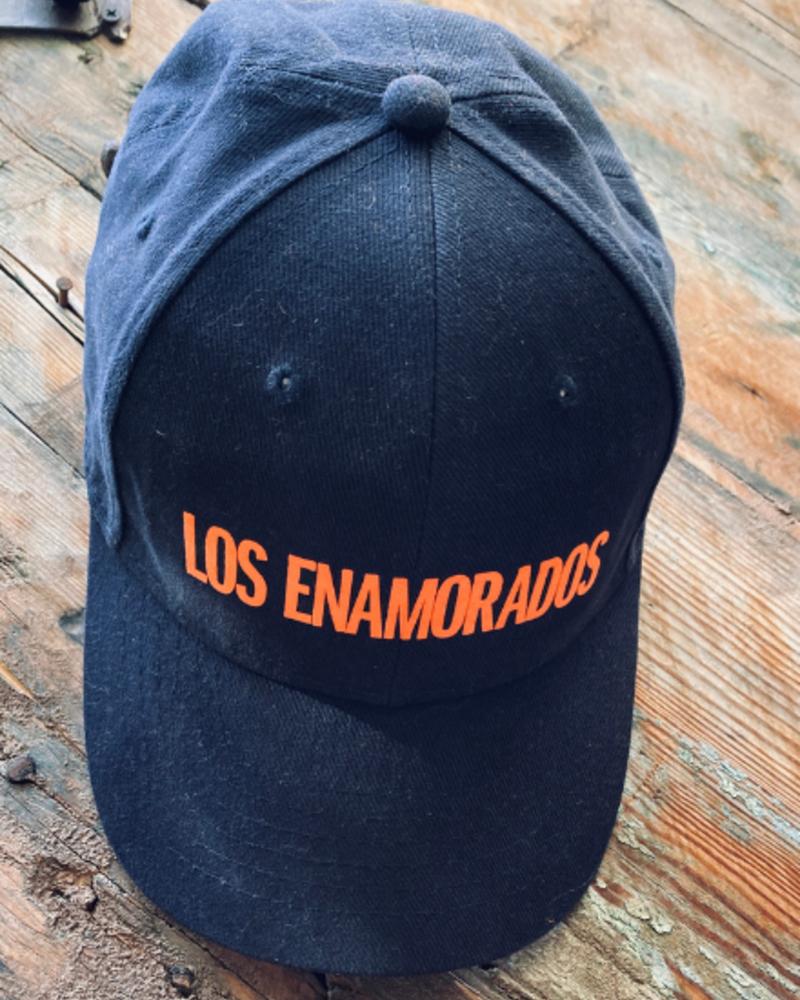 Los Enamorados Navy Blue Baseball Cap with Orange Los Enamorados Logo
