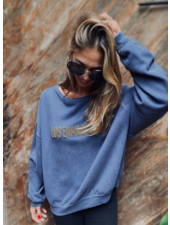 Los Enamorados Embroidered Sweater - Blue