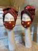 Los Enamorados Facemask - African Tie Dye - Terracotta