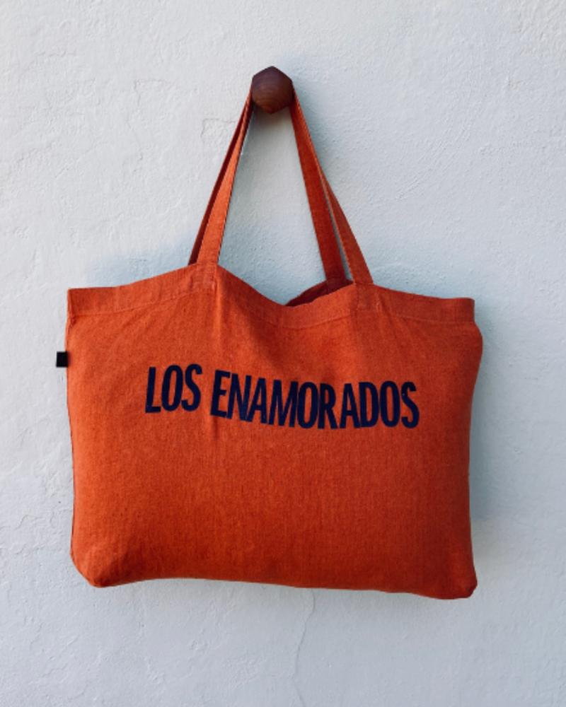 Los Enamorados Paprika Bag with Navy Blue Los Enamorados Velvet Logo