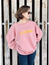 Los Enamorados Embroidered Sweater - Pink