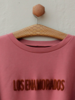 Los Enamorados Embroidered Raspberry Sweater with Bronze Logo