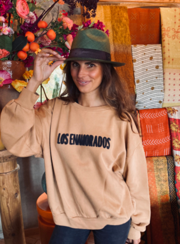 Los Enamorados Embroidered Sweater - Brown