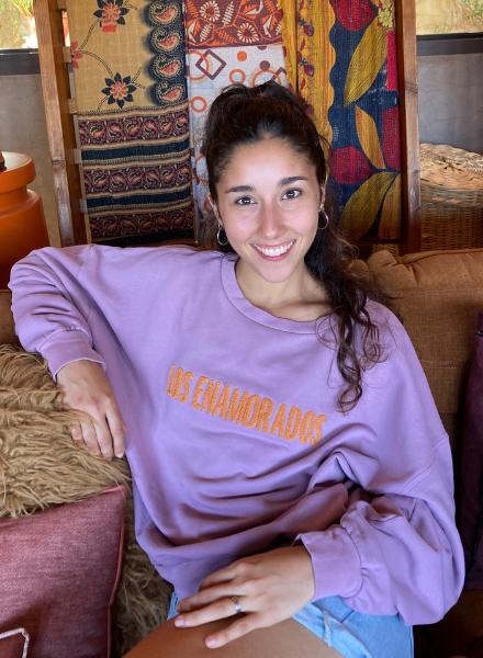 Los Enamorados Embroidered Sweater - Lilac