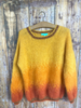 Rose Carmine Yellow Tie and Dye Sweater