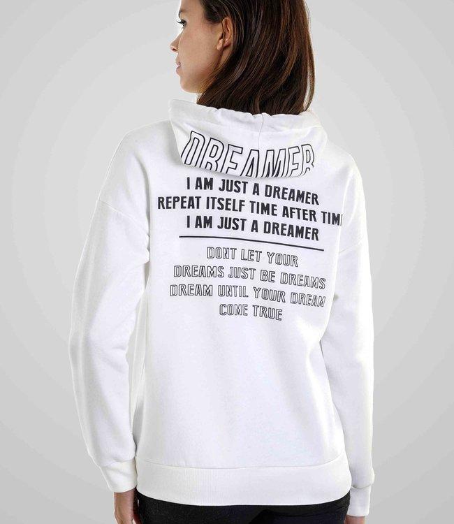 J6574 Dames Hoodie-Vest met rits en Rugprint