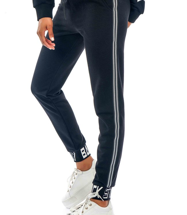 J7322 Ladies Tracksuit Pant STRIPE TEXT