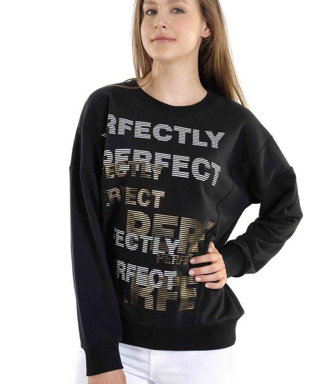 Ladies Sweater J6568 with Embossed Print
