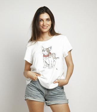 """T-shirt """"BULLDOG"""" Off White"""