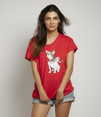 "T-shirt ""BULLDOG"" Rood"