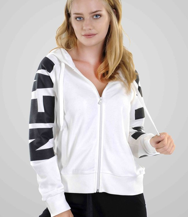 """Hoodie- Vest with zipper and print """"NEW"""""""