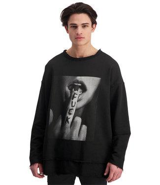 "Sweater- Unisex-  ""F*CK YOU"" - Black"